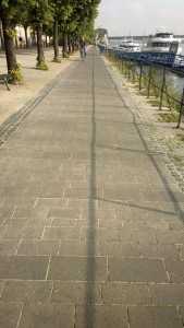 Rheinufer - The Rhine promenade.