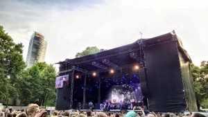 Open air concerts run through the summer in the main park.