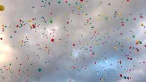 Balloons at the Torchlight Concert, Poppelsdorf Schloss.