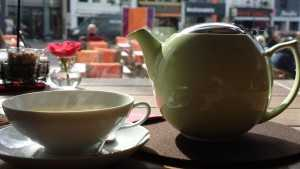 On the marketplace in Bonn - First Flush. A great tearoom with incredible teas.